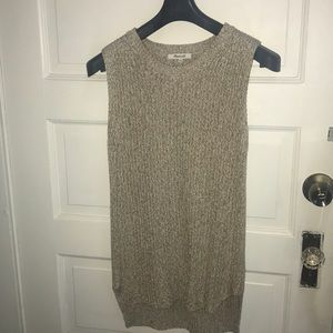 Madewell sleeveless sweater top size XS